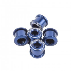 ELEVN CHAIN RING BOLTS  6.5*4mm alu Blue