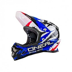 ONeal Backflip Fidlock DH RL2 Shocker Black/Red/\Blue Helmet Small