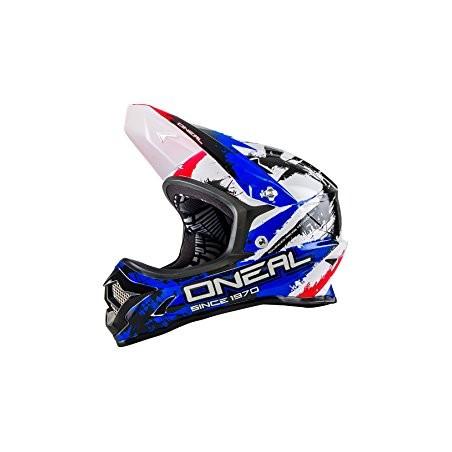 ONeal Backflip Fidlock DH RL2 Shocker Black/Red/\Blue Helmet Small
