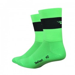 "Defeet - Aireator Team 5"" Hi Vis Green/Black Small"