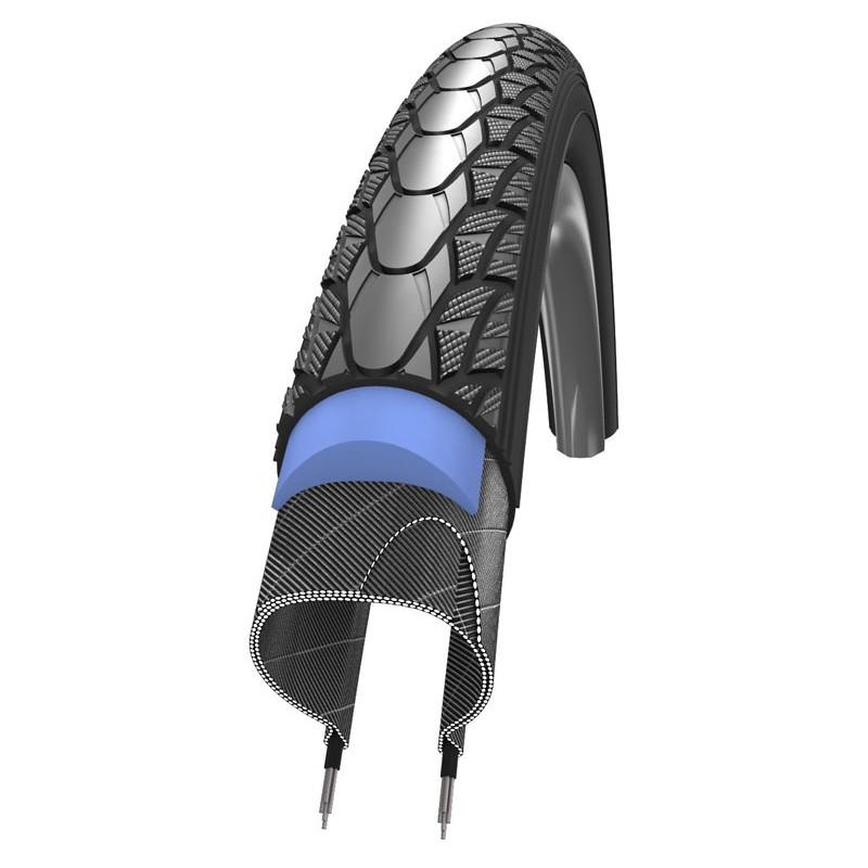 "Schwalbe Marathon Plus SmartGuard Blackn Roll Compound Rigid in Black 24 x 1.00"" (Evo)"