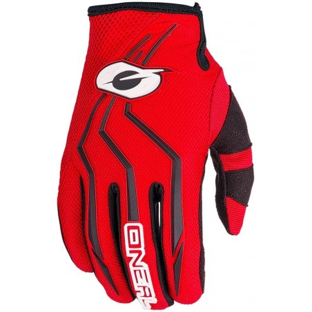 ONeal Element Black Glove red