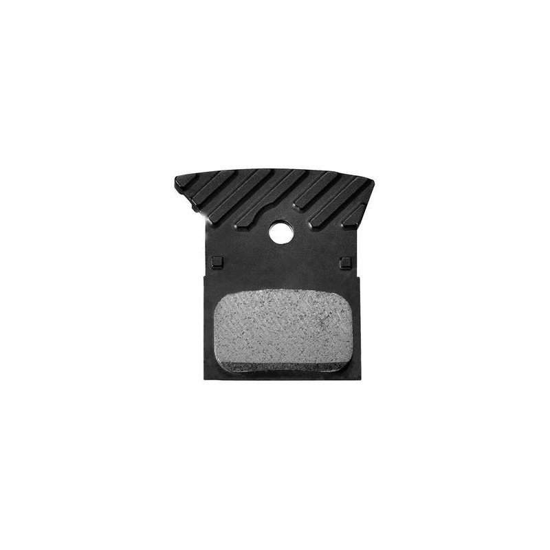 Shimano L02A disc brake pads alloy backed with cooling fins resin