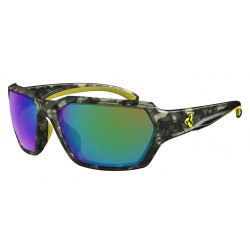RYDERS EYEWEAR FACE CAMOUFLAGE FRAME   GREEN-BROWN MIRROR LENS