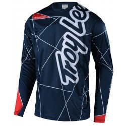 TROY LEE DESIGNS YOUTH SPRINT JERSEY METRIC RED NVY