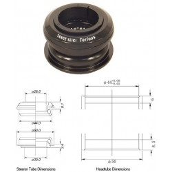 Tange Seiki Terious ZST2 Semi Integrated Headset in Black. 1 1 8