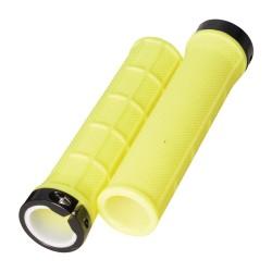 Oxford Lock On Slim Grips Fluro Yellow