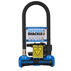 Oxford Shackle 14 U-Lock 320mm x 177mm Blue