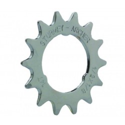 STURMEY ARCHER 13T SPROCKET     1 8    FLAT     CHROME
