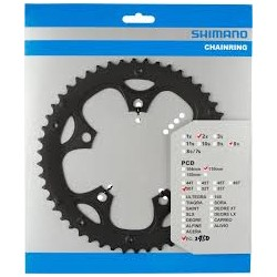 Shimano FC-2403 chainring  50T-D  silver for chain guard