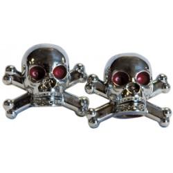 Weldtite Skull Valve Caps in Silver