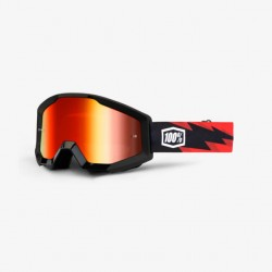 100% Strata Goggles Slash   Red Mirror Lens