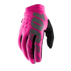 100% Brisker Womens Cold Weather Glove Neon Pink