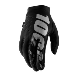 100% Brisker Cold Weather Youth Glove Black   Grey