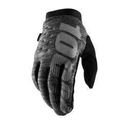 100% Brisker Cold Weather Glove Heather Grey