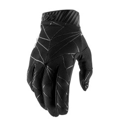 100% Ridefit Glove Black   White