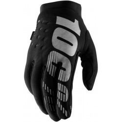 100% Brisker Cold Weather Glove Black   Grey