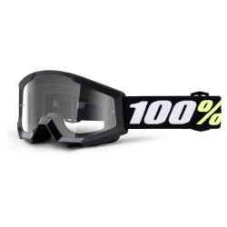 100% Strata Mini Goggles Black   Clear Lens