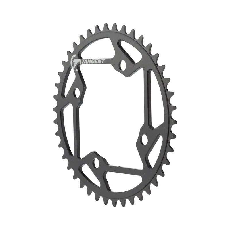 Tangent Halo 4 Bolt Chainring Black 42t