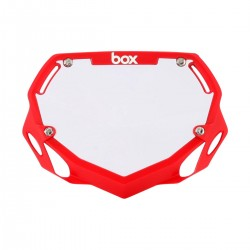 BOX Two Mini Number Plate Red