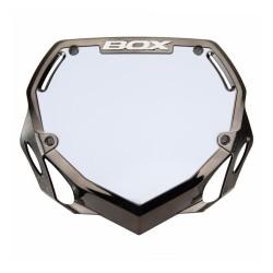 Box Phase 1 Chrome Number Plate Black Pro