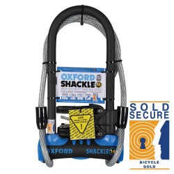 Oxford Shackle 14 DUO U-Lock (320mm) Blue