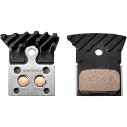 Shimano L04C disc brake pads  alloy backed with cooling fins  metal sintered