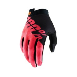 100% iTrack Glove Black   Fluo Red S