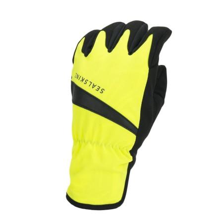 Sealskins Waterproof All Weather Cycle Glove Neon Yellow /Black
