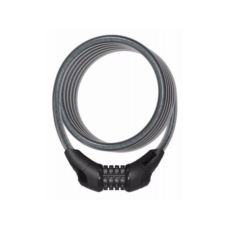 OnGuard Neon Combo Cable Lock Black 1800 X 10mm
