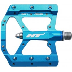 HT AE-05, CNC Alloy Platform, Thrust Bearing, Cr-Mo axles, Replaceable pins Blue