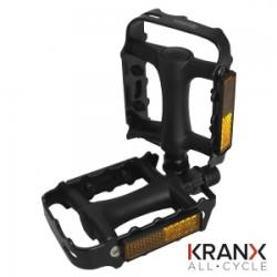 KranX CityTrek Polymer Bearing Steel/Plastic Pedals 9/16
