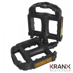 KranX EcoTrek Polymer Bearing Plastic Pedals 9/16
