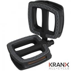KranX UrbanGrip Polymer Bearing Plastic Pedals 9/16