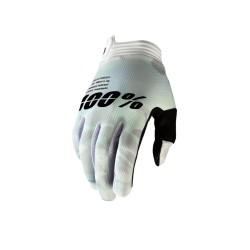 100% iTrack Glove White Camo Medium