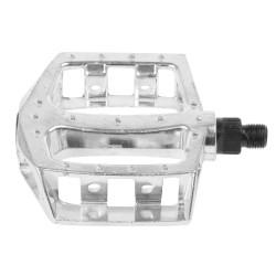Aluminum 87x94 flat pedal Silver1/2