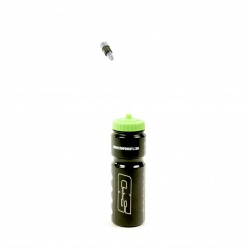 SD Water bottle with Straw Black Green