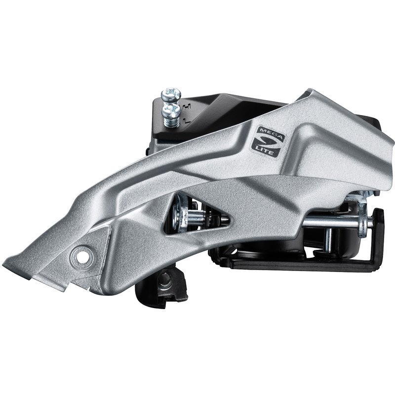 Shimano FD-M2000 Altus 9-speed hybrid front derailleur, top swing, dual-pull