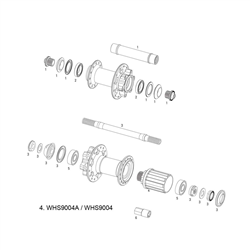 SRAM SPARE - WHEEL SPARE PARTS KIT FREEHUB BODY X-9/X-7/RISE 40