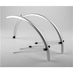 Mpart Commute full length mudguards 700 x 38mm silver
