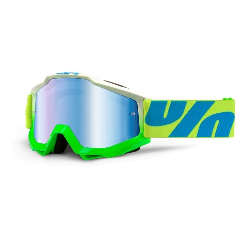 100% Accuri Goggles Barracuda Mirror Blue Lens