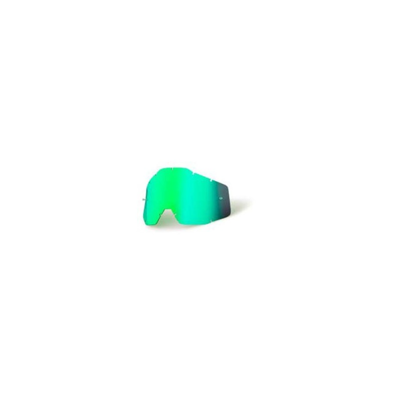 100% Motocross Goggles Replacement Lens - Mirror Green - Accuri Youth