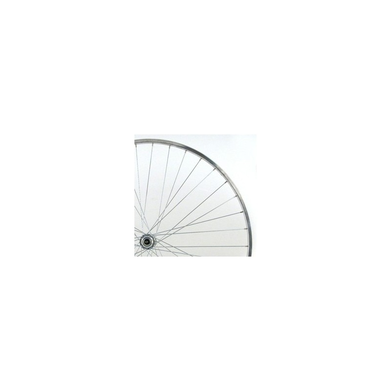700c Alloy Rear Wheel Narrow Section Quick Release Black