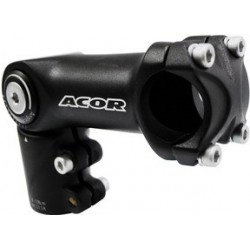 "Acor 1.1/8"" Adjustable High Fit Ahead Stem: 110 x 31.8mm Black"