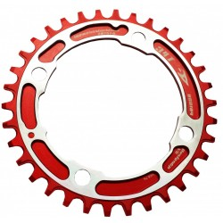 Aerozine 34T 104BCD Narrow Wide Chain Ring (Shimano/Sram) Red