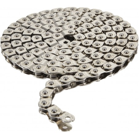 Arcane Pitch 102 half link chain 1 / 2 x 1 / 8 inch silver 102 links