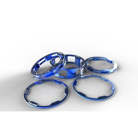 BOX Zero stem spacers Kit 1 1/8' 10, 5, 3,1(2pcs)mm blue