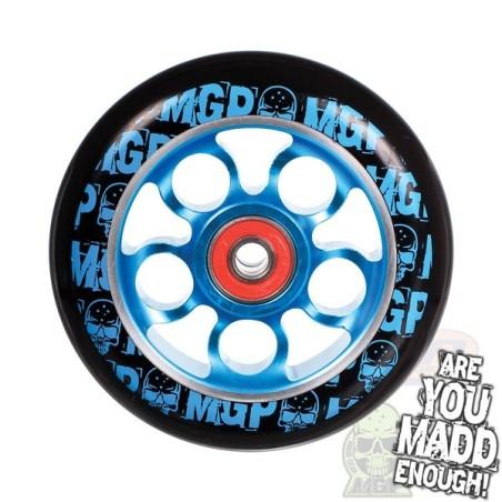 MGP AERO SKULL WHEEL 100mm inc BEARINGS - BLUE