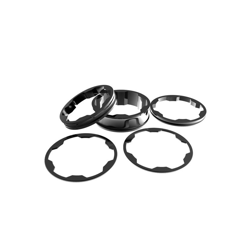 Promax Stem spacers Kit 1 1/8' 10,5,3,1 (2pcs)mm black
