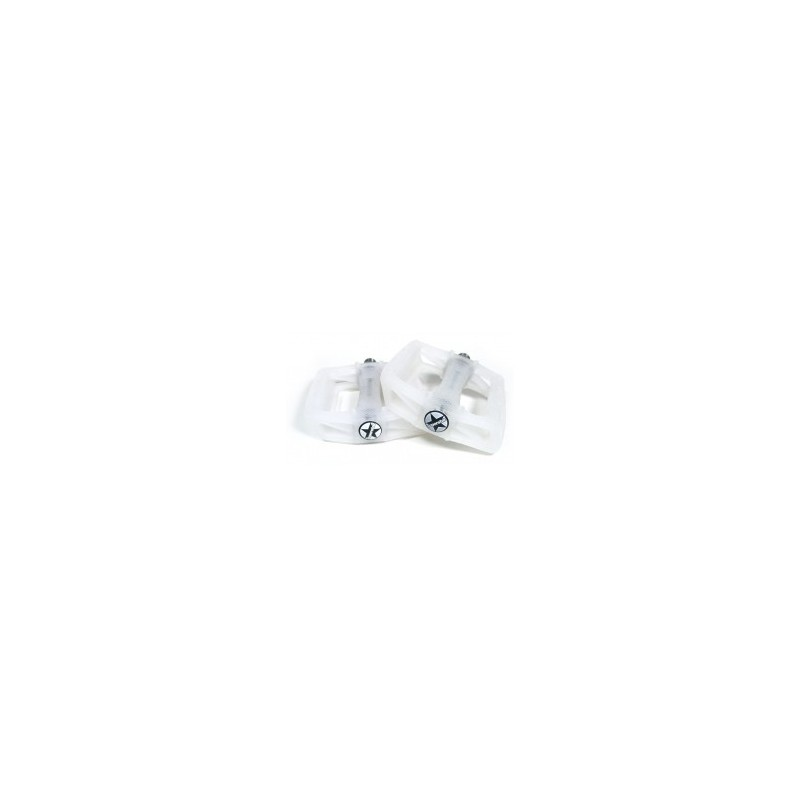 S* plastic pedals UV 9/16 white to pink